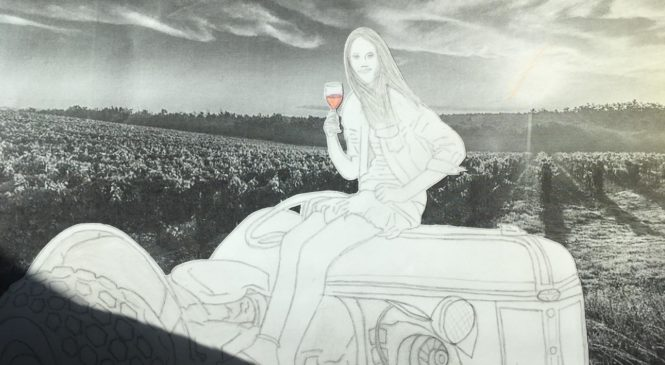 Bevitrice sul trattore. Il colore del sacrificio. LEONARDO ROSSINI 3B SV